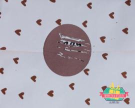 Ronde krassticker | Koper | 4 cm | per 5 stuks