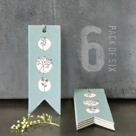 Labels | Blue Hedgerow | 11 cm | Set van 6 stuks