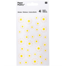Paper Poetry stickerset | Boterbloemen | 4 velletjes