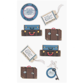 Paper Poetry 3D sticker - Luggage
