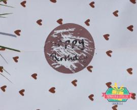Ronde krassticker - Koper kleur - 4 cm (vanaf 100 stuks)