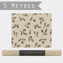 East of India inpakpapier | Berry Branches | 5 mtr x 50 cm