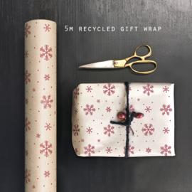 East of India inpakpapier | Snowflakes | 5 mtr x 50 cm