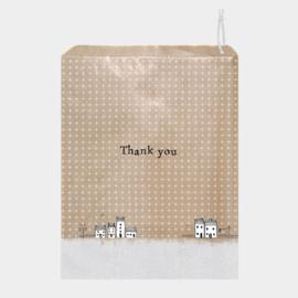 Kraft zakjes | Thank You | 27 x 20 cm | per stuk