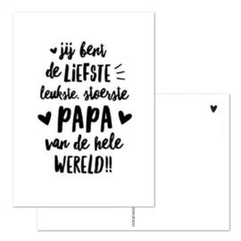 Hofje van Kieka ansichtkaart | Liefste PAPA | A6 formaat