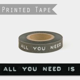 East of India tape | All you need is love | 25 meter x 1 cm