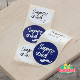 Sticker mix | Super Dad | per 5 stuks