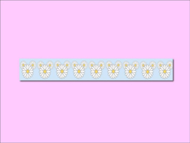 Only Happy Things washi tape | Madeliefjes | Groen | 10 mtr x 1,5 cm