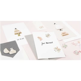 Paper Poetry 3D sticker | Wedding Day