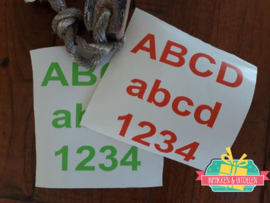 Kliko / container sticker - Cijfers (S) 6 cm hoog
