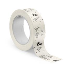 winkeltjevananne kerst tape   Masking tape   Liefs Santa   10 meter