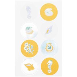 Paper Poetry stickerset | Onderwater dieren | 4 velletjes in totaal 85 stickers