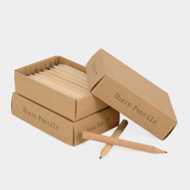 East of India | Houten potloodjes in een gift box | 24 sharp pensils
