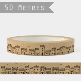 East of India tape | Houses | 50 meter x 2,5 cm