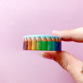 Only Happy Things washi tape   Potloden   10 mtr x 1,5 cm
