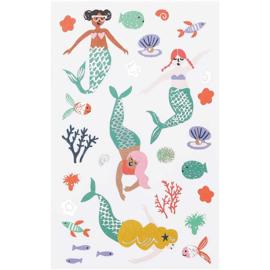 Paper Poetry stickerset   Mermaid - Zeemeermin   4 velletjes in totaal 70 stickers