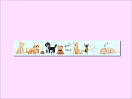 Only Happy Things washi tape | Dogs | 10 mtr x 1,5 cm