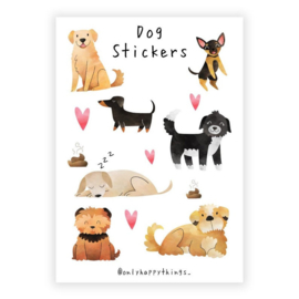 Only Happy Things stickervel | Dog | A5
