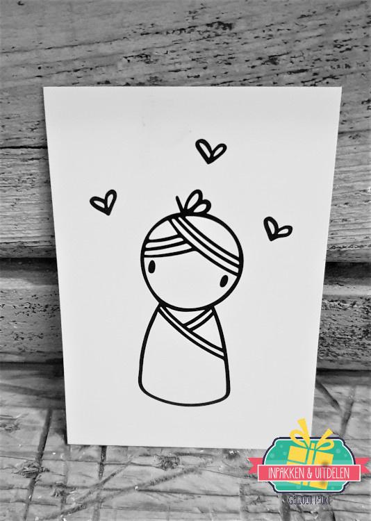 Irmadammeke mini kaartje | Meisje | 10,5 x 7,5 cm