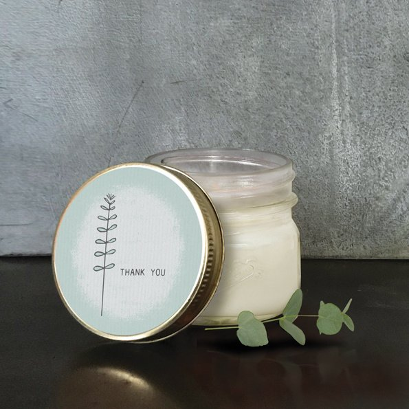 East of India | Soy jar candle | Thank you | Vanille