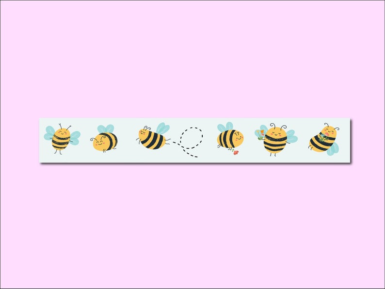 Only Happy Things washi tape | Bees | 10 mtr x 1,5 cm