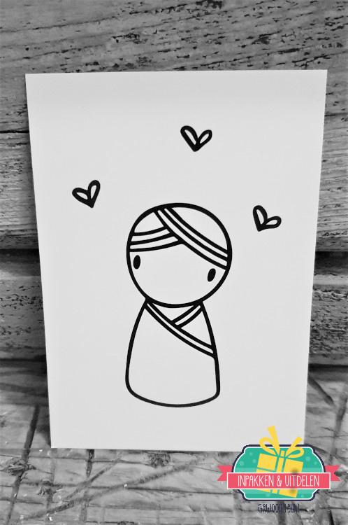 Irmadammeke mini kaartje   Jongen   10,5 x 7,5 cm