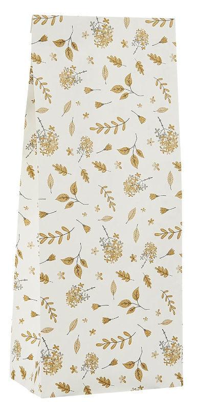 Ib Laursen blokbodemzak | Yellow Leaves |  22,5 cm | per stuk