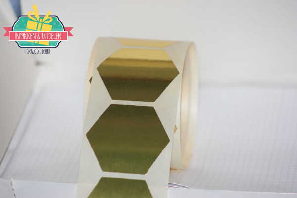 Hexagon sticker - Goud (5 stuks)