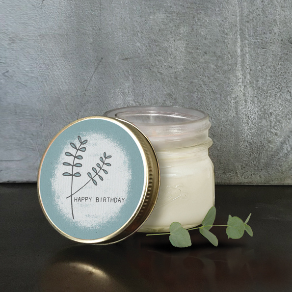 East of India | Soy jar candle | Happy Birthday | Vanille
