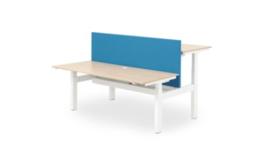 ZIT-STA Hi Tee Voortman duo bureautafel H-poot 2x 160x80 Elektrisch verstelbaar HTDZ80-160E-HH