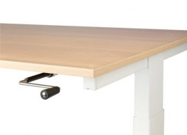 Hi Tee Voortman bureautafel T poot 160x80 SLINGER verstelbaar HT80-T160S-T
