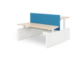 ZIT-STA Hi Tee Voortman duo bureautafel 2x Wang-poot 2x 160x80 Elektrisch verstelbaar HTDZ80-160E-WW