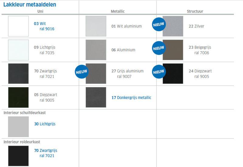 Roldeurkast KS-PP Voortman 72x120x47 cm 65650-60141