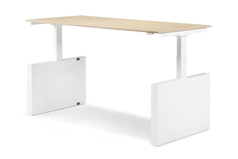 ZIT-STA Hi Tee Voortman bureautafel Wang poot 160x90 Elektrisch verstelbaar HTZ90-160E-W