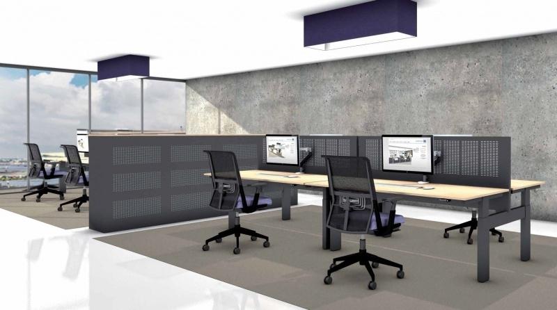 Akoestisch Stalen Bureauscherm Voortman Sound and Vision 158x68x4 cm HTGS-B160K