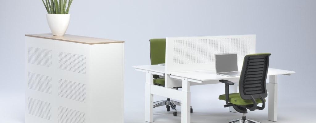 Hi Tee duo werkplek Voortman wit-groen