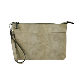 Schoudertasje / Clutch Julie Taupe