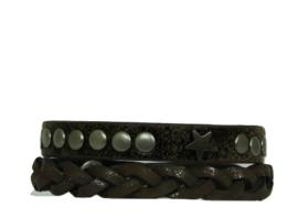 Armbandset Stoer Bruin