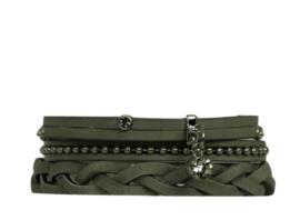 Armbandset Lisa Grijs