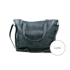 Schoudertas / Pouftas Luna Blauw