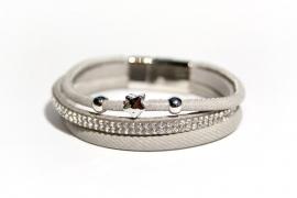 Armbandset Diana Grijs