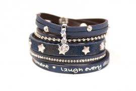 Armbandset Kate Star Donkerblauw