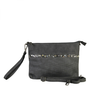 Schoudertasje / Clutch Danique Antraciet