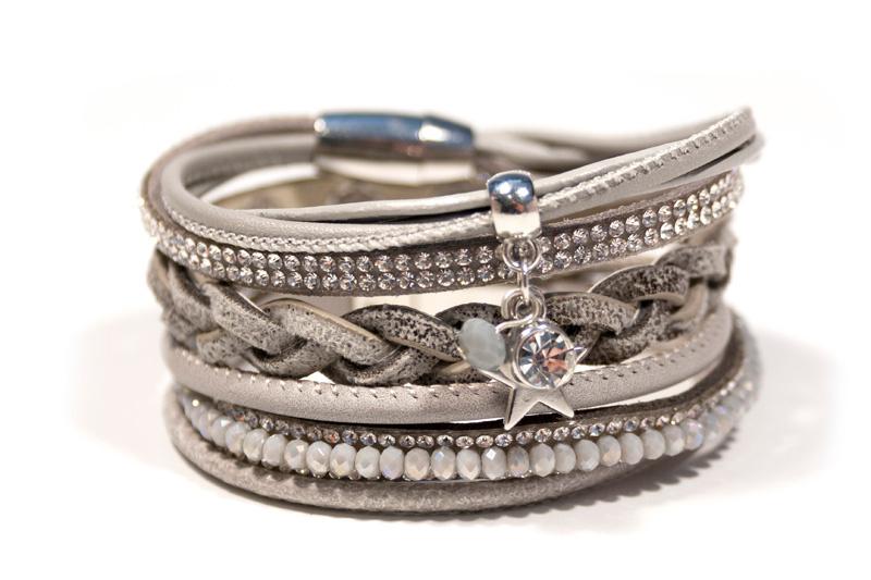 Armbandset Grace Lichtgrijs