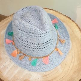 Ibiza hoed blauw