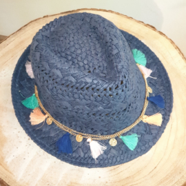 Ibiza hoed donkerblauw