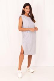 T-shirt jurk grijs