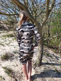 Camouflage jurk