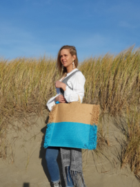 Beach bag turquoise *Alex Max*