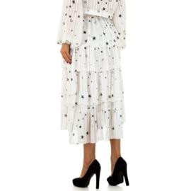 Witte rok met sterren